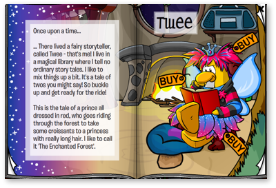 Club Penguin Fairy Fables Page One