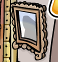 Club Penguin Ninja in the mirror